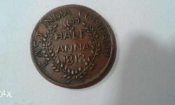 Old indian east India company coin of 1813