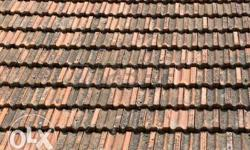 Old Brown Roof tiles. 3 rupees per piece. Ph :