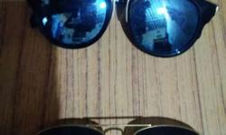 One Gold Aviator And One Silver Sunglasses