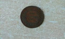One indian quarter.. Year- 1850.. very old... Price