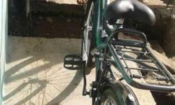Green And Black Road Bicycle