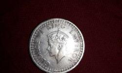 one rupee coin george VI king emperor silver rare coin