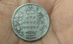 One Rupee India 1907 Coin