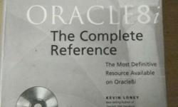Oracle 8i The complete reference book with CD.Useful