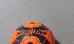 Orange And Blue Spartan Soccer Ball