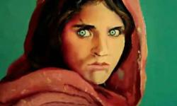 Original oil painting ' The afghan refugee' 35x46cm for