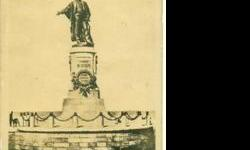 Orignal Old B/W Photo Post Card of Monument - FERDINAND