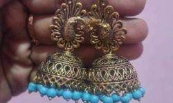 Oxidised German metal jhumkas Price mention in each