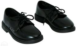 Pair Of Bata Scout Black School Shoes. * Brand New And