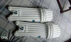 Pair Of White Shin Guards