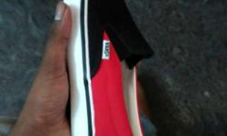 Brand new paired Red,black, And Whtie Vans Sneaker