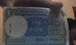 100 one rupees new notes of year 1989