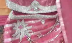 Pink partywear lehnga in good condition only one time