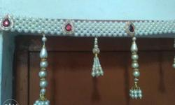 Pearl Beaded Door Decor.. Toran (Bandarwal) Handwork..