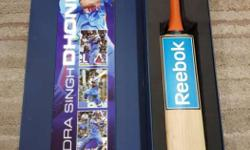 Personally Autographed by M S Dhoni, purchased from