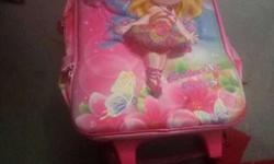 Pink And Blue Fairy Printed School Bag
