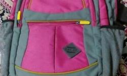 Pink And Gray Backpack