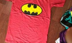 Pink Batman Crew Neck Shirt all colours available for