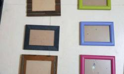 plastic and wooden picture frames. rs150 each but if