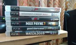 I have gta 5,watch dogs,max payne 3,assassins creed