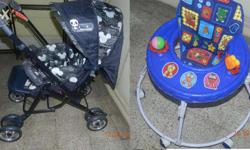 Baby walker and Panda brand Pram in excellent