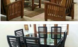 Premium quality wooden sofa set on monthly payment