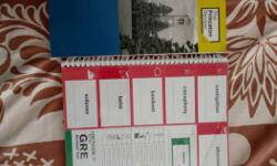 Princeton Review GRE manual and unused flashcard book
