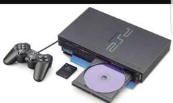 ps2 with 40 game cd n four remotes,memory card