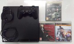 PS3 320GB Box contains 1 PS3 wireless Dual shock 3