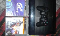 Ps3 ultra slim 320 gb battle field4 grand turismo6 with