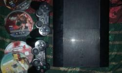 sony ps3 6 month old with 5 game very excellent