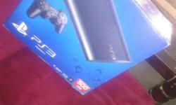 PS3 Slim 500GB with 2 dualshock 3 controllers and 6