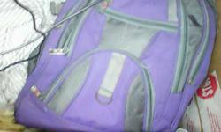 Purple And Gray Backpack