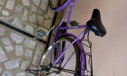 Purple And Gray Cruiser Bicycle