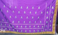 Purple And Yellow Textile