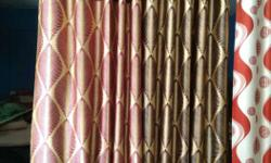 Purple, Black, And Brown Window Curtain 2.15m