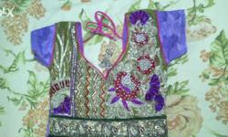 Purple color Anarkali suit in new condition i want to