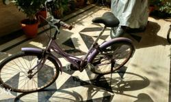 Purple Step Through Bicycle