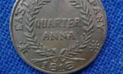 Quarter Anna East India Company Coin