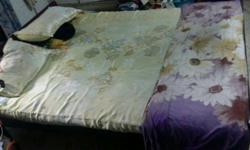 Queen size bed with mattress 5/6(1/2) (price