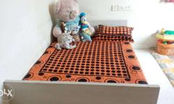 Queen size bed with storage. 4*6. two years old. Just