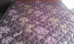 Queen size cot with mattress. contact98403one24two4