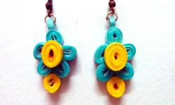 Light weight paper Quilling handcrafted earrings