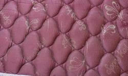 Quilted Maroon Floral Bed Mattress