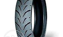 Original MRF REVZ radial 130/70-R17 rear tyre of Yamaha