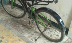 Rear tyre new hai. 1 year old cycle with double shock