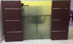 Reception table with cupboards and lock. Brand New .