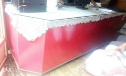 Rectangular Red Sectional Wooden Desk Its colour can be