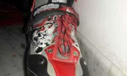 Red-and-black Snowboard Boot