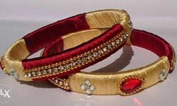Red-and-gold Bangles
